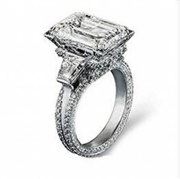 Size 5-11 Hot Luxury choucong Jewelry 925 Sterling Silver AAA Cubic Zirconia Simulated stones Wedding Eiffel Tower Women Ring