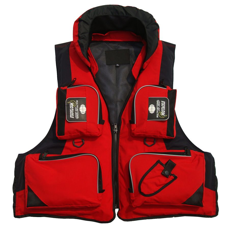 new hot sell water rafting outdoor sports anti-drowning Sea Fishing Survival suit fishing vest multi-pocket adult lifejackets