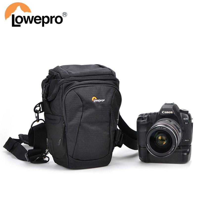 Lowepro Toploader Pro 70 AW II Digital SLR Camera Triangle Shoulder Bag Rain Cover Portable Waist Case Holster For Canon Nikon