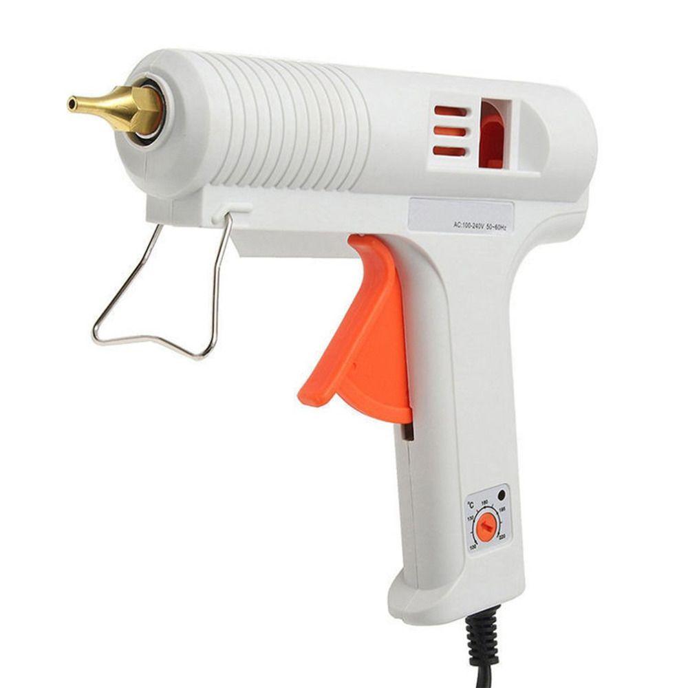 Профессиональный AC 100-240 В 50-60 Гц 100 Вт Регулируемый Температура термоклей пистолет Медь сопла ремонт Инструменты Лидер продаж