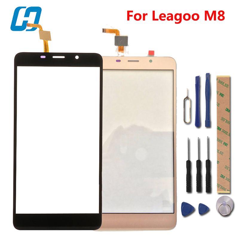 Leagoo M8 Écran Tactile hacrin 100% Nouveau Digitizer Tactile En Verre de Remplacement Du Panneau Pour Leagoo M8 Pro Téléphone Intelligent en Stock