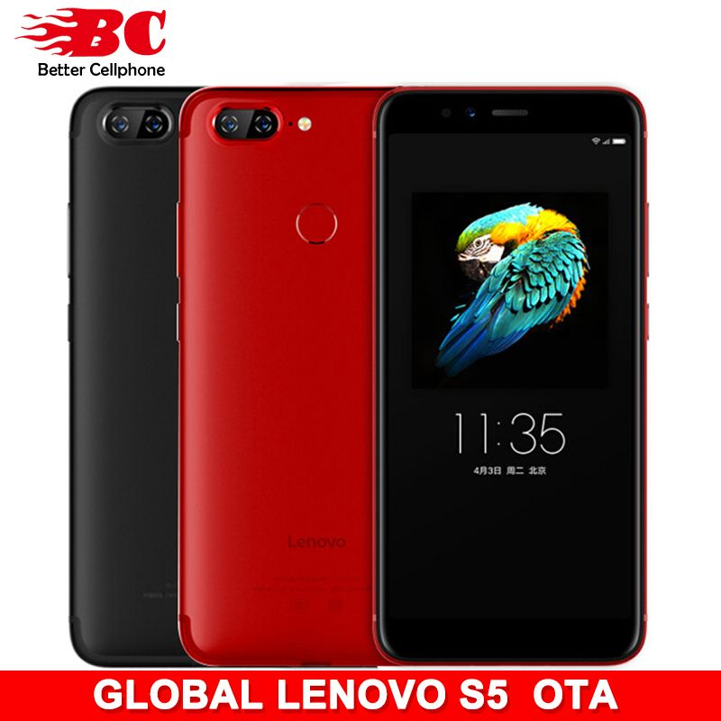 Lenovo S5 K520 Global version Snapdragon 625 Octa-Core 2.0Ghz ZUI3.7 4+64GB 3000mAh Rear13MP+13MP Face-ID support Watch9 and OTA