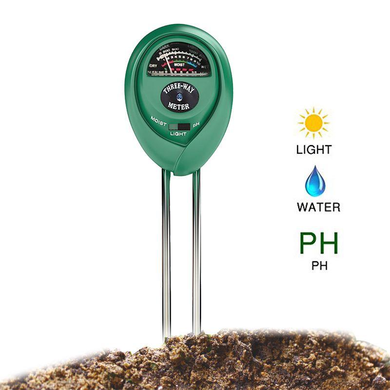 PH mètre de sol 3 en 1 Kit de Test de sol pour l'humidité, la lumière et le pH soin des plantes testeur de sol testeur de sol détecteur Garde (pas de batterie nécessaire)