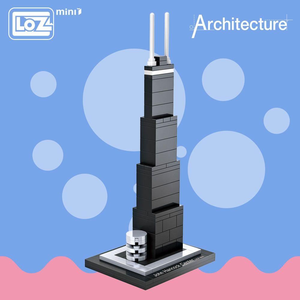 LOZ idées Mini bloc John Hancock Center mondialement célèbre Architecture série états-unis Mini blocs de construction en plastique jouet 1001