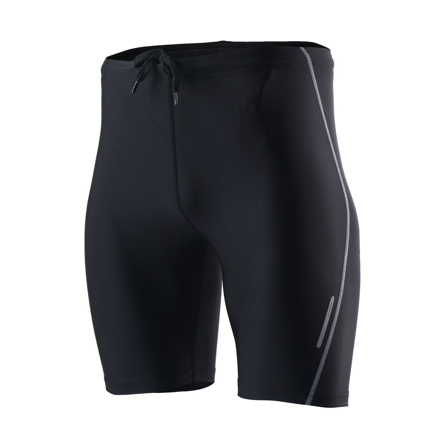 ARSUXEO Summer Short Running Tights with Waist Rope and Pocket Lycra Men Sport Leggings Compression Sports Shorts Man Women