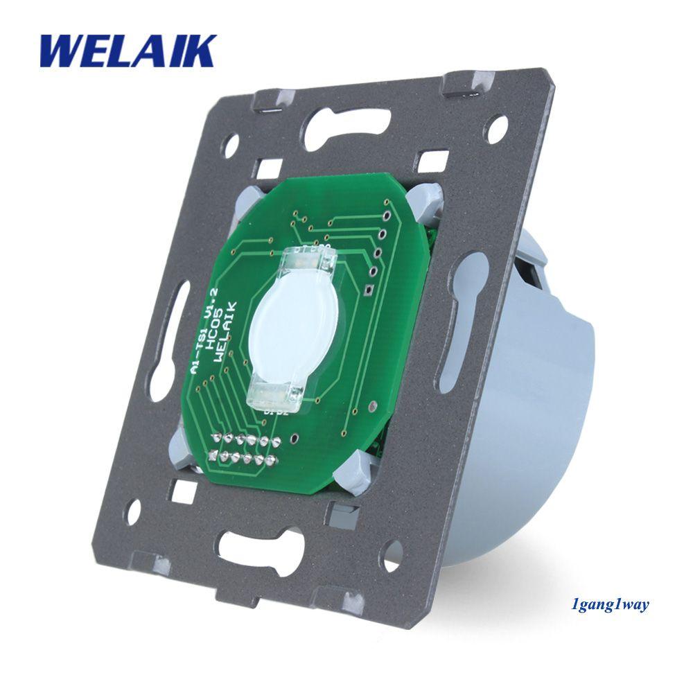 WELAIK EU interrupteur mural tactile-interrupteur bricolage-pièces-ecran Wall-Light-Switch1gang-1way AC110 ~ 250V-A911