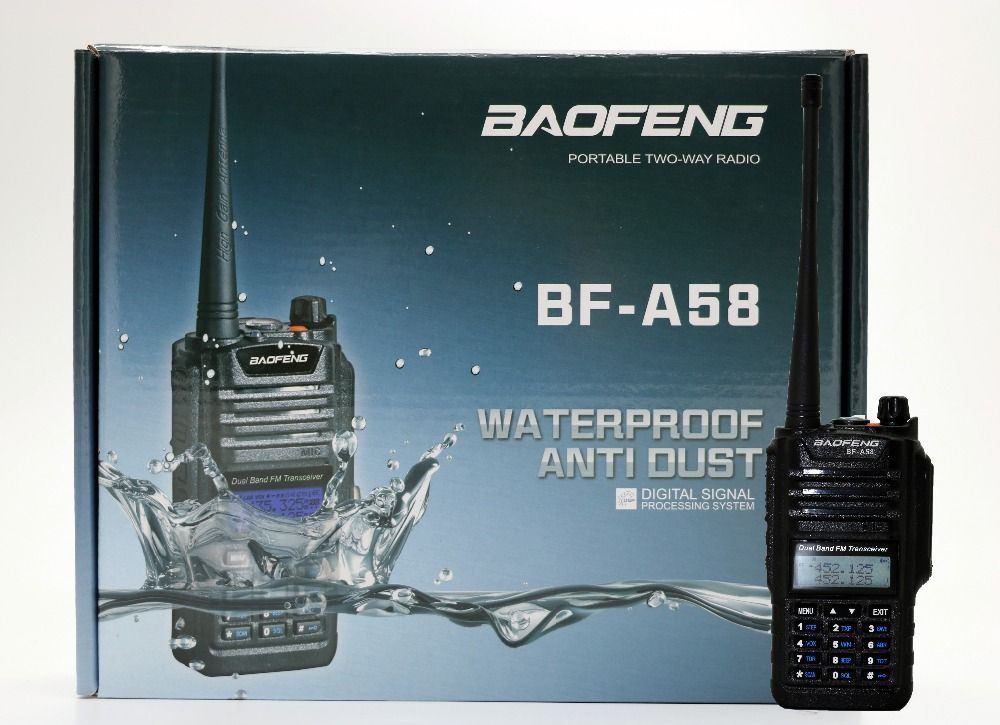 BaoFeng BF-A58 Waterproof Walkie Talkies 5-10Km Long Range 2 Way Radio A58 For CB Radio Station Ham Radio Hf Transceiver