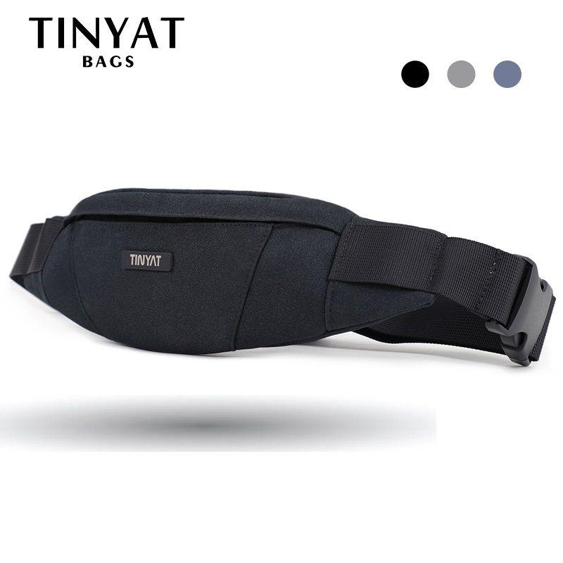 TINYAT hommes taille sac pack sac à main étanche toile voyage téléphone ceinture sac pochette pour hommes femmes sac casual pour ceinture Hip Pack