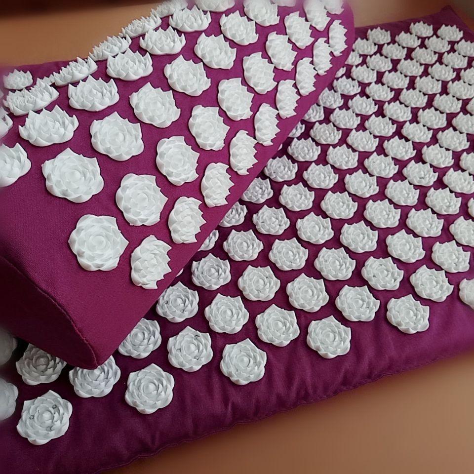 Ensembles d'acupuncture traditionnels tapis d'acupression avec oreiller tapis de Massage coussin de pointe de Lotus Massage et Relaxation