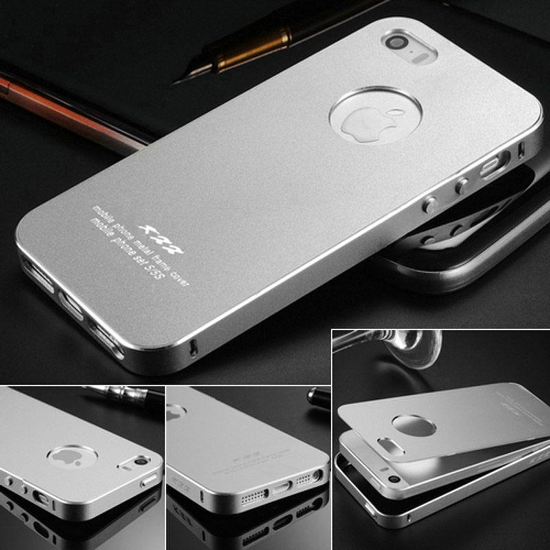 Ultra-mince Boîtier En Aluminium Pour iPhone 5 5S SE 2 EN 1 Téléphone Sac Couverture arrière pour iPhone 5S 5 Cas Coque De Luxe Mat Surface Pas de Vis