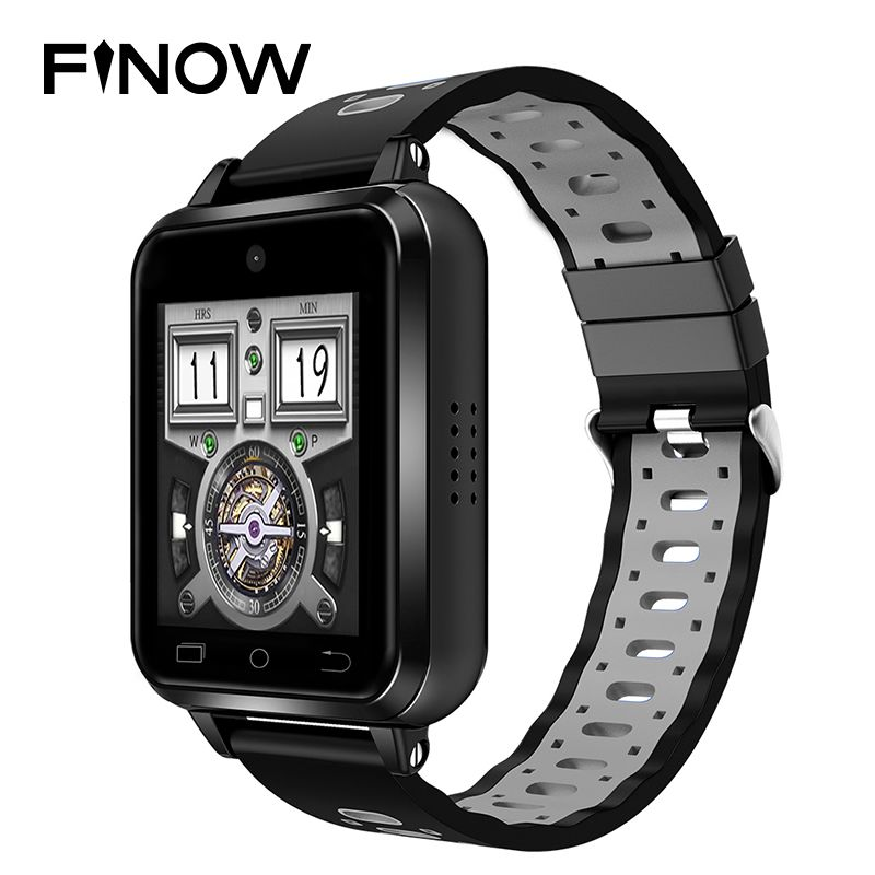 2018 New 4G smart watch Finow Q1 Pro IP67 Waterproof Wifi Wearable Devices 2M camera 1GB/8GB Android 6.0 Heart Rate smartwatch