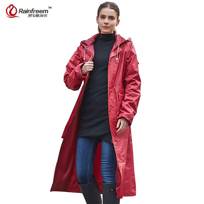 Imperméable imperméable Rainfreem femmes/hommes imperméable Trench manteau Poncho Double couche imperméable femmes vêtements de pluie vêtements de pluie Poncho