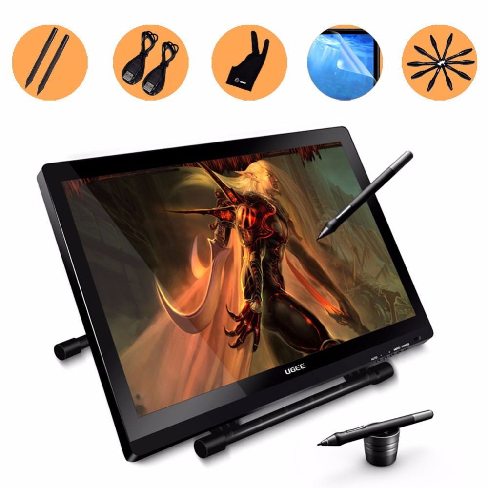 Ugee UG2150 21.5 Inch Graphic Drawing Monitor Stylus Pen Display Graphic Tablet with Screen IPS Panel for Macbook, iMac, Windows