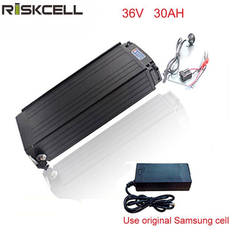 Elektrische fahrrad batterie 36 V 30Ah Elektrisches Fahrrad Lithium-ionen-batterie fit 36 V 1000 Watt 500 watt bafang E für Samsung 18650 zelle