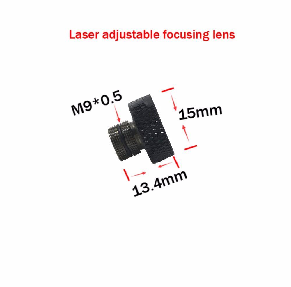Lentille de mise au point réglable trois couches en verre enduit M9 * 0.5 pour 405nm 445nm 450nm 1 w 2 w 2.5 w 3 w 5.5 w lentille de module de diode laser