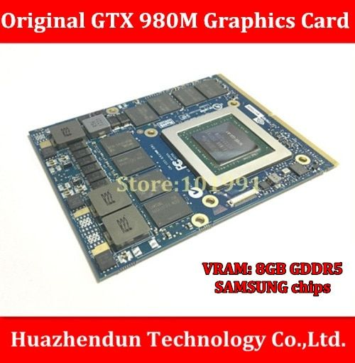 Original GTX 980M 8G MXM SLI N16E-GX-A1 video card for laptop / notebook nVidia GeForce GTX 980M Free Shipping via DHL/EMS