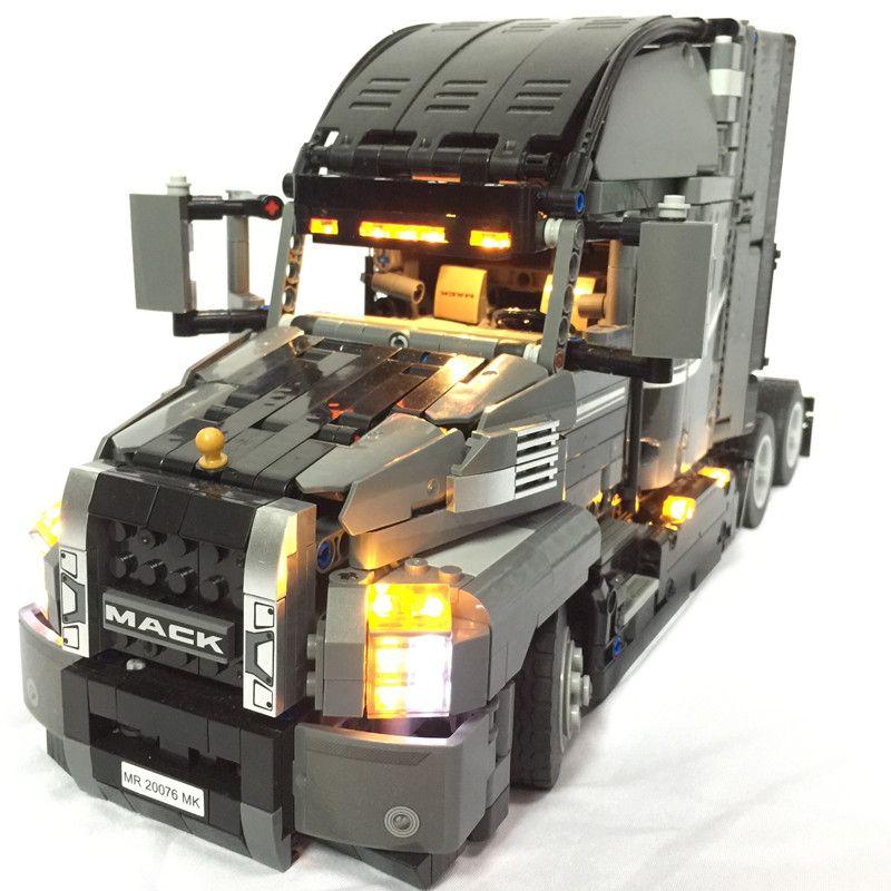 LED Lumière Kit pour lego Technic Série 42078 et 20076 le Mack AnthBig Camion Ensemble (la voiture pas inclus)