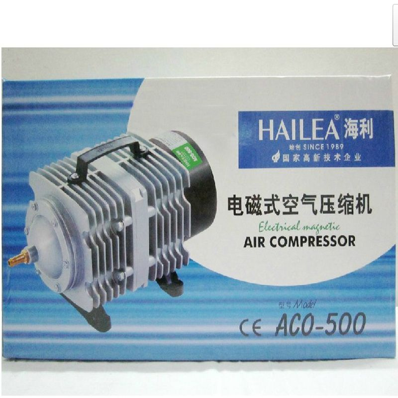 420L/min HAILEA ACO-500 Electrical Magnetic Aquarium Air Compressor with Air Divider for Fish Tank Hydroponic Aerator 26 Outlet