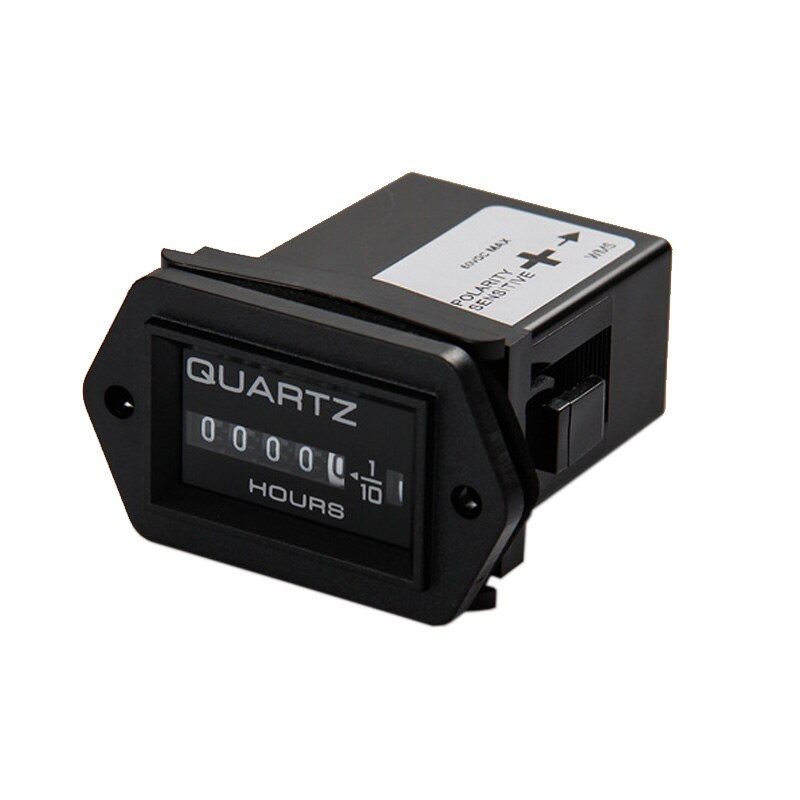 Mechanical Hour Meter Accumulate timer counter  99999.9 snap in Vehicle Boat Truck Motorcycle for generator DC 12-40V