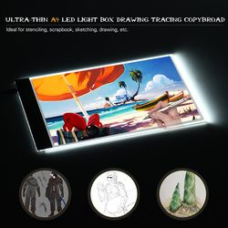 Portable A4 LED Light Box Drawing Tracing Tracer Copy Board LED Light Pad Panel Copyboard with USB Cable for Artist Animation