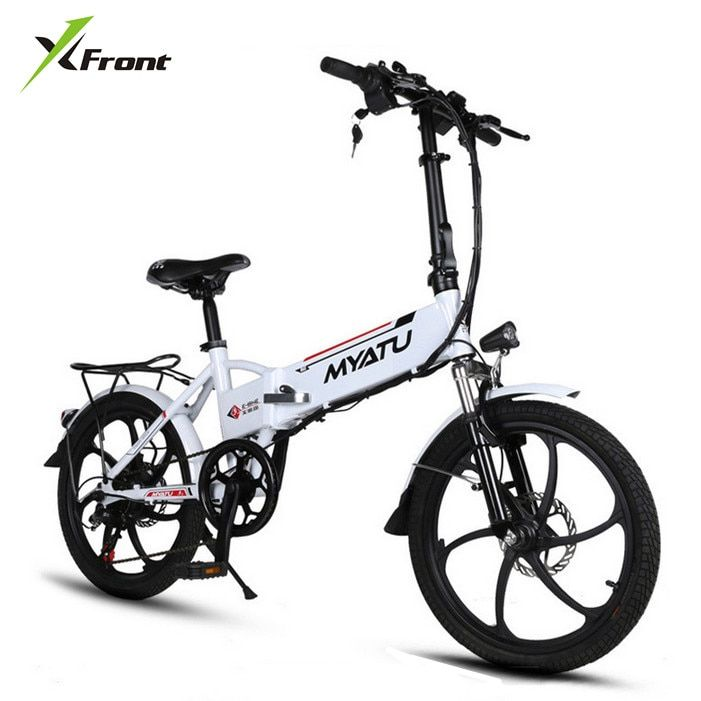 New X-front brand Aluminum frame 20 inch electric bike 6 speed folding mini ebike 250W lithium battery electric bicycle