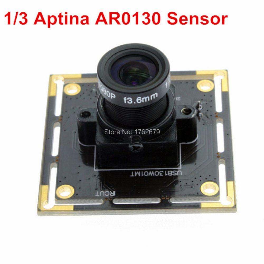 Mini illumination 0.01lux HD 1.3MP Aptina AR0130 UVC plug and play micro cmos usb monochrome board camera with 8mm lens