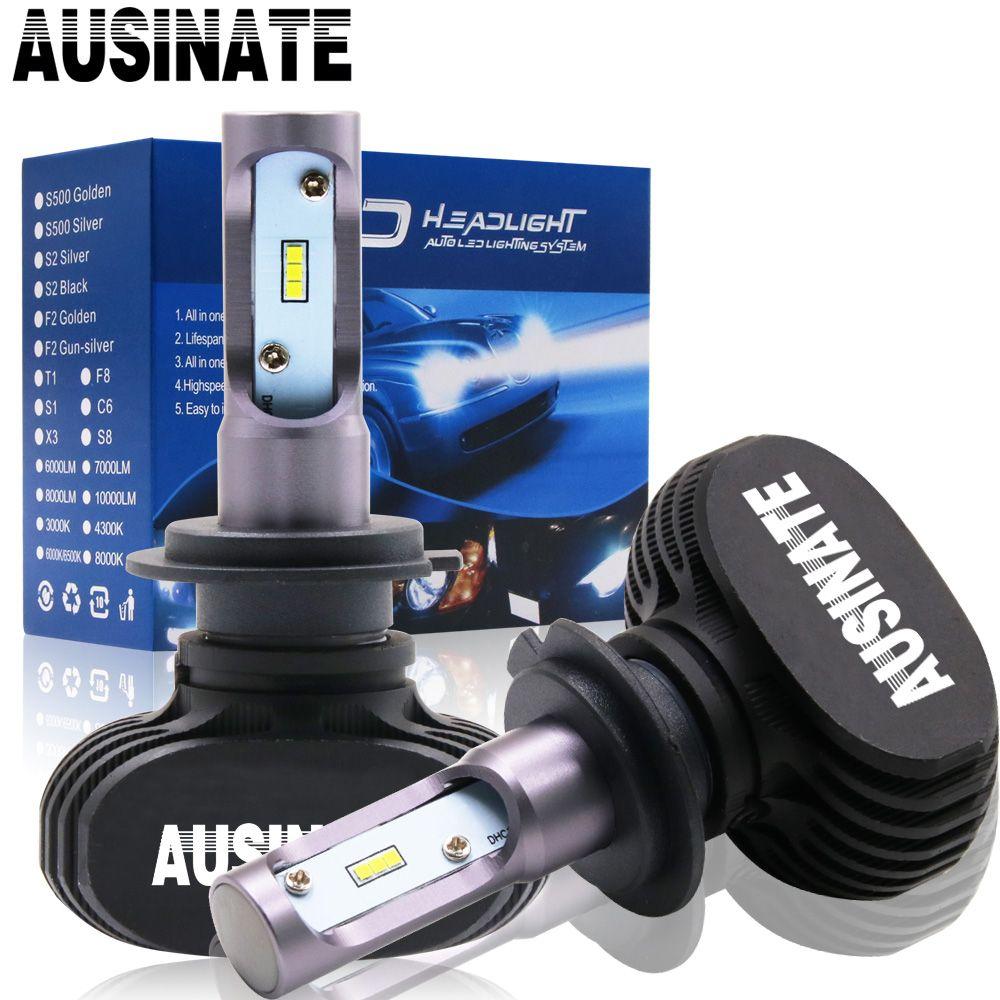 H4 LED H7 H1 H11 Voiture Phares Ampoules S1 CSP Puces H3 H8 H9 HB3 HB4 9005 9006 LED Brouillard Lumière 50 W 8000LM 6500 K lumières De Voiture