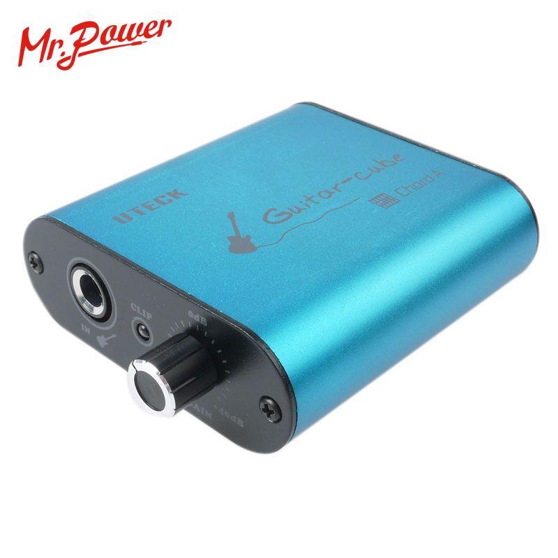 Uteck guitare Cube ASIO corde USB Interface Audio (DI) adapté pour souple (guitare plate-forme JAMVOX AmpITube) 240 B