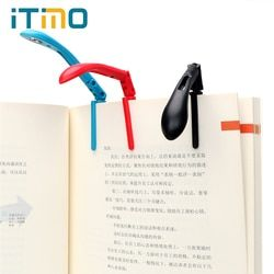 ITimo Clip-on Book Reading Lamp with Battery Folding LED Book Lights For Reader Kindle Adjustable Flexible Night Book Light