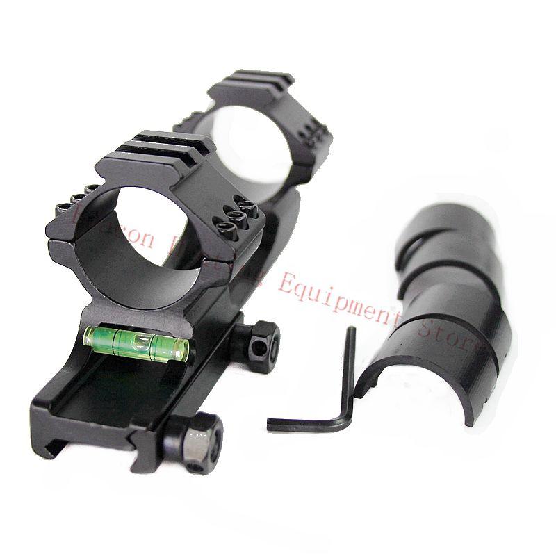 Jagd Einstellbare 30/25. 4mm Offset Weaver Zielfernrohr Ringe Montieren Bi-richtung mit Wasserwaage Ring Top Picatinny Schiene Halterungen