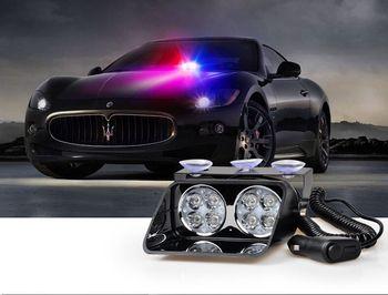 8 W Pare-Brise dash Led Strobe Lumière S8 Viper Voiture Flash Signal D'urgence Pompier Police Gyrophare Lumière Rouge Bleu ambre