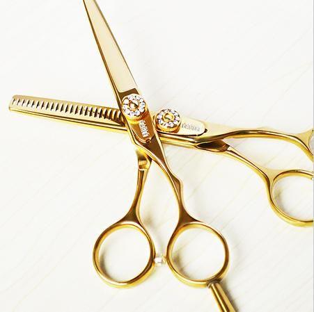 Professionnel 440c 9cr13 6.0 & 5.5 pouces ciseaux amincissants coupe coiffeur coupe cheveux ciseaux set ciseaux de coiffure livraison gratuite
