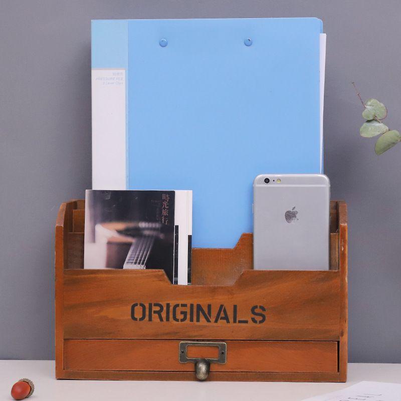 Retro Buch Regale Handgefertigten Holz Schmuck Schublade Organizer Sundries Magazin Jewelly Kosmetische Aufbewahrungsboxen