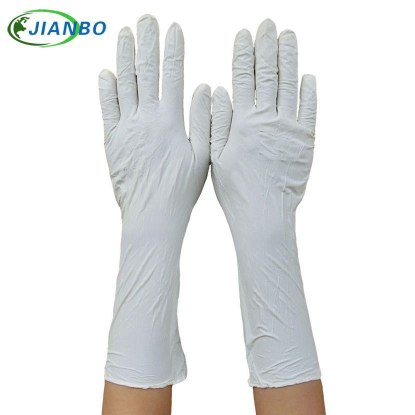 100 pièces Long jetable Latex Nitrile gants médicaux nettoyage maison alimentaire cosmétique Protection industrielle en caoutchouc sûr gants de travail