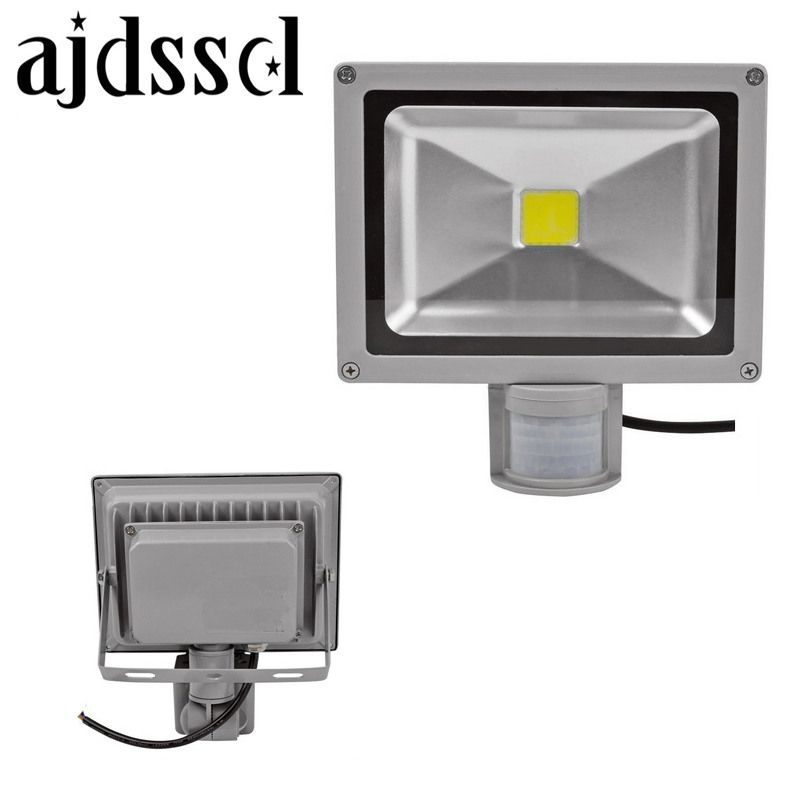 LED FLOOD 220V/110V Led Flood Lights Outdoor Sensor Floodlight Lamp10W 20W 30W 50W PIR Motion Sensor Refletor Foco Spotlight