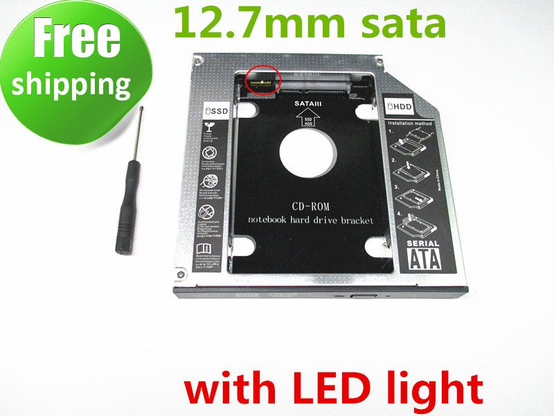 2nd SSD HDD HD disque dur pilote Caddy SATA pour 12.7mm CD/dvd-rom baie optique caddy universel