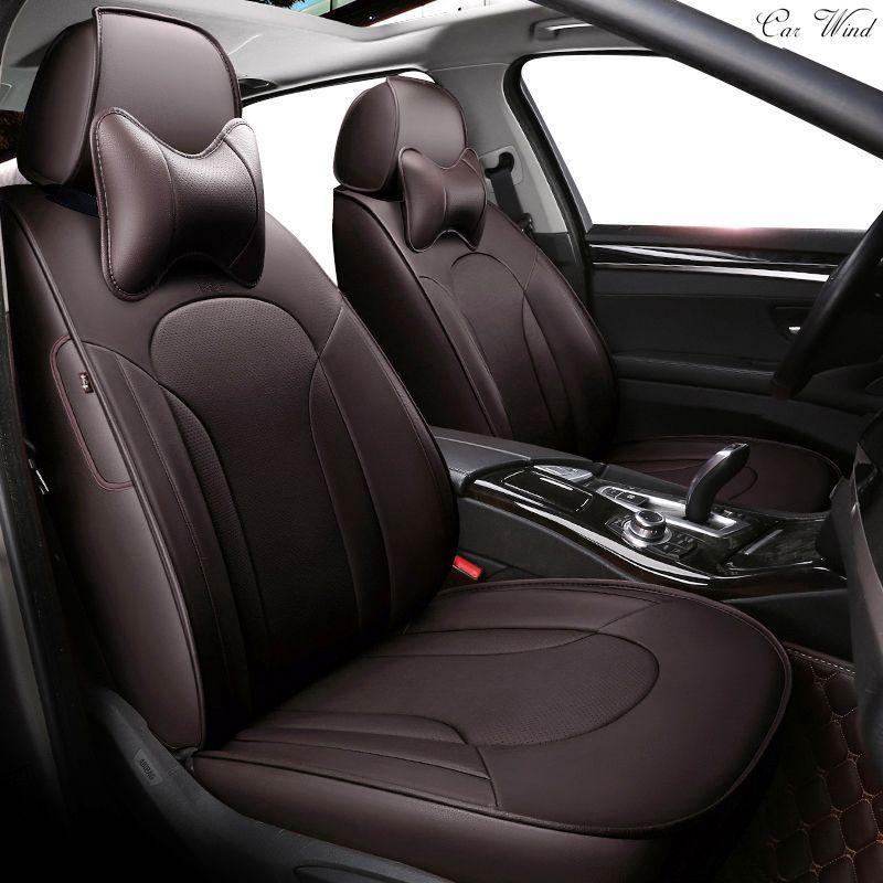 Автомобиль ветер пользовательские кожаный чехол автокресла для Toyota Volkswagen RAV4 Skoda Rapid Lexus ES IS LS RX NX LX prado KIA Автомобильный аксессуар