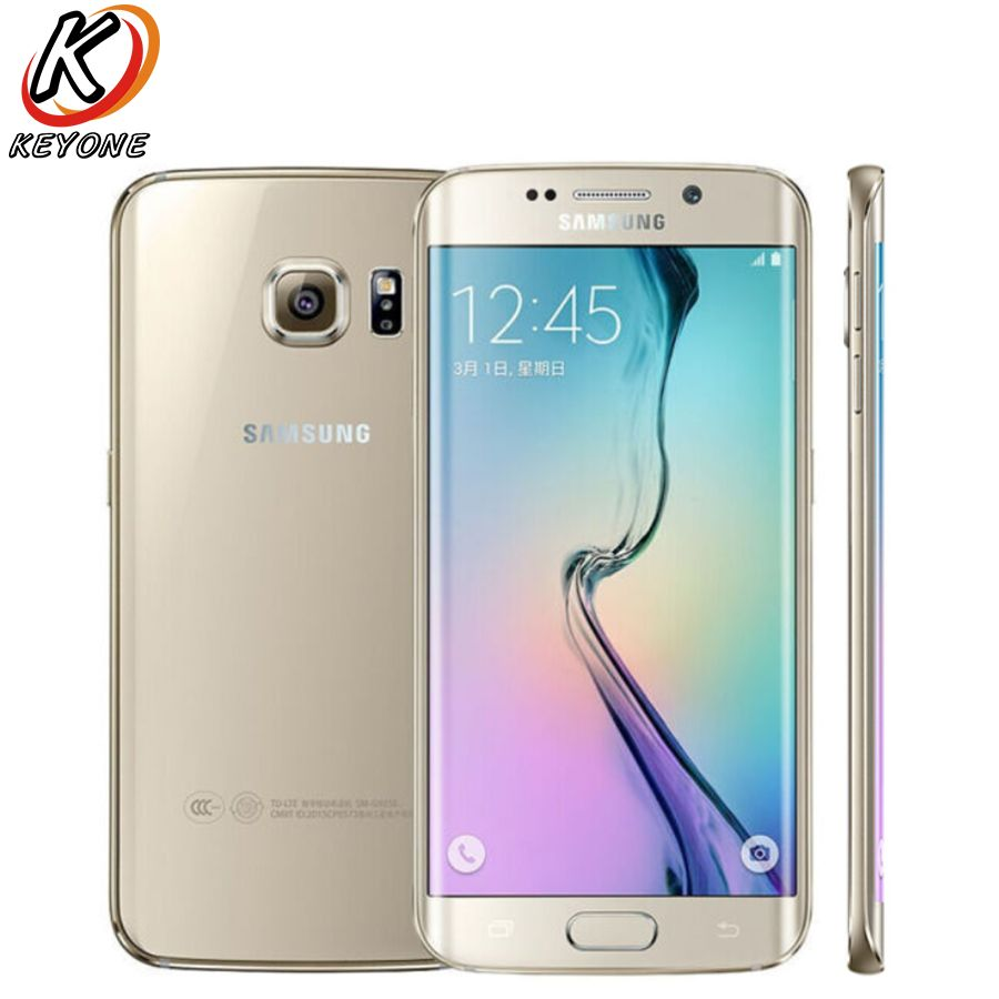 New Samsung GALAXY S6 Edge G9250 LTE Mobile Phone 5.1 3GB RAM 64GB ROM Octa Core 2560x1440p 16.0MP Android NFC Smart Phone