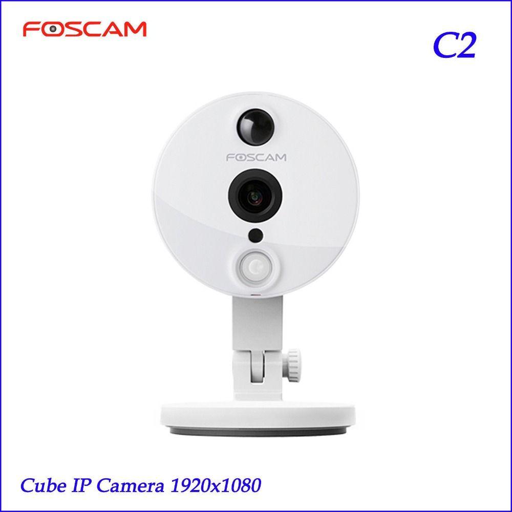Foscam C2 HD 1080 P безопасности Wi-Fi ip-камера с IOS/Android App супер широкий 120 Угол обзора ночного видения до 26ft