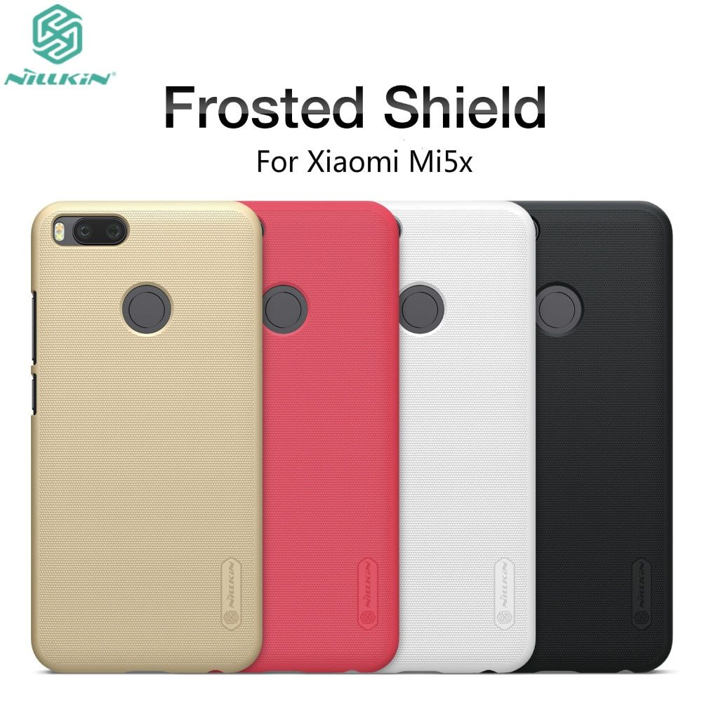 Xiaomi 5X Case Xiaomi Mi5x Cover Case NILLKIN Super Frosted Shield Case For Xiaomi Mi A1 PC Plastic Back Cover+Screen Protector