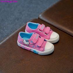 HaoChengJiaDe Printemps Mode Enfants Chaussures de Bande Dessinée Filles Chaussures Enfants Espadrille de Toile de Bébé Princesse Fille Seule Chaussure Souple Plat Chaussures
