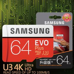 SAMSUNG EVO Plus Carte Mémoire 32 GB SDHC 80 mb/s Class10 Micro SD C10 U1 TF Cartes Trans Flash SDXC 64 GB 128 GB 256 GB livraison gratuite
