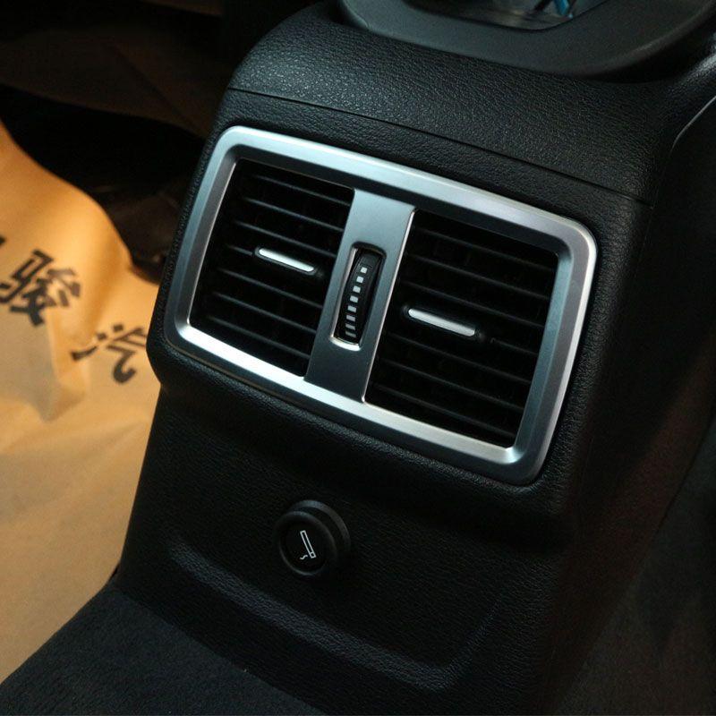 Для BMW X1 F48 20i 25i 25le 2016 2017 ABS Матовый Хром ABS Chrome сзади розетки Рамки крышка отделка