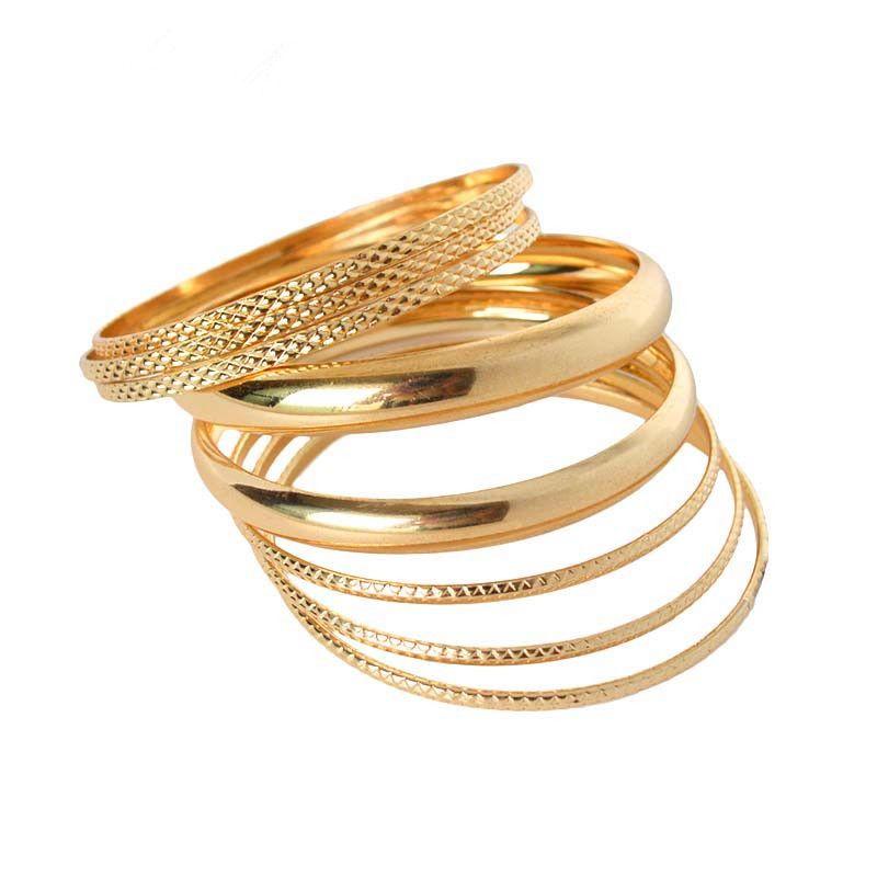 Heißer Verkauf Luxus Damen Marke Gold-farbe Gefüllt Mehrschichtige Charme Armbänder Armreifen Set Für Frauen 2015 Neue Hohe Qualität Ms. Charm