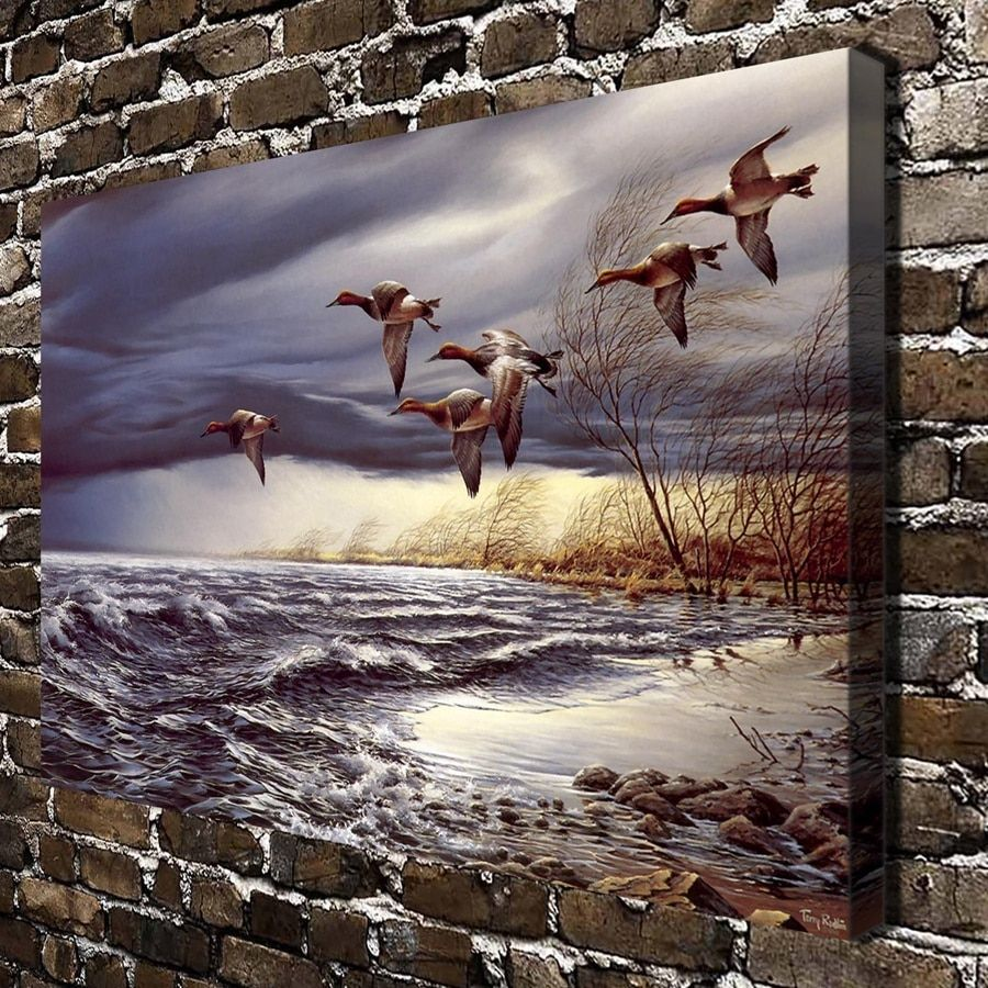 A783 Terry Redlin Whitewater Bird Animal Scenery .HD Canvas Print Home decoration Art painting Living Room bedroom Wall pictures