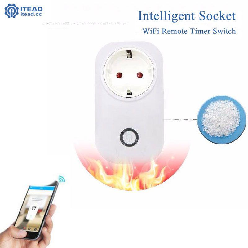 Itead Sonoff S20 Smart Wifi prise US UK EU prise d'alimentation sans fil Wifi télécommande prise 10A 2200 W pour maison intelligente