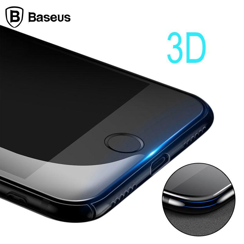 Baseus 3D Trempé Protecteur D'écran En Verre Pour iPhone 7 0.3mm Premium De Protection En Verre Film Pour iPhone 7 Plus de Sécurité cas