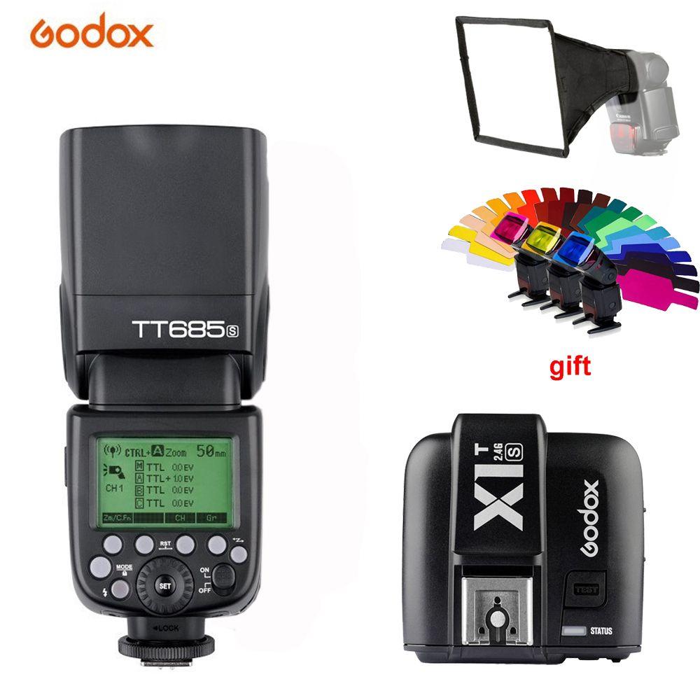 Godox TT685S 2,4G HSS 1/8000 s ich-TTL GN60 Drahtlose Speedlite Blitz + X1T-S Trigger für Sony A77II A7RII A7R A58 A9 A99 A6300 A6500