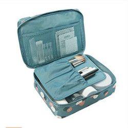 Brand New Waterproof Portable Zipper Cosmetic Bag Dot beauty Case Make Up Tas Purse Organizer Storage Travel Wash Pouch
