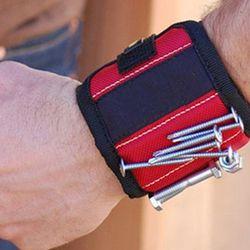 Сильный магнитный браслет инструмент Регулируемый инструмент браслеты для саморезы гайки Болты ручной держатель сверла